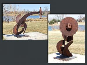 "60""W x 54""D x 58""H   -  'CURLY SPROCKUS'   -  $6000.00"