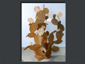 """24""""W x 30""""D x 24""""H   -  Copper/Rust   -  small $150-500 large $500 & up"""